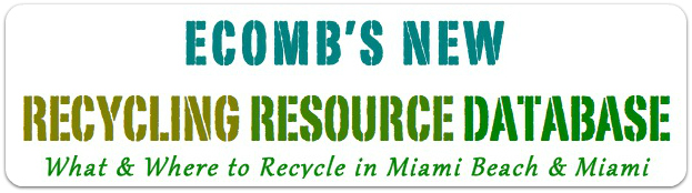 Recyclign Resource Database sign
